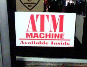 Redundant ATM Sign